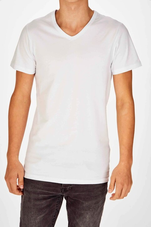 Bruce & Butler T-shirts (korte mouwen) wit BRB194MT 028_WHITE img1