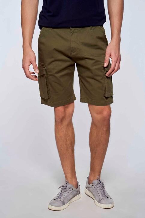 Bruce & Butler Shorts groen BRB213MT 007_OLIVE img1