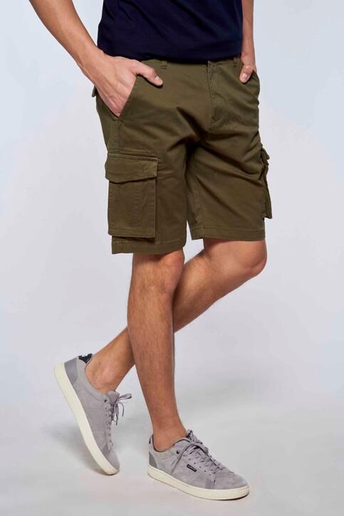 Bruce & Butler Shorts groen BRB213MT 007_OLIVE img3
