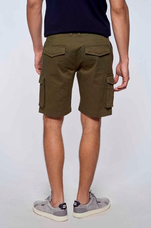 Bruce & Butler Shorts groen BRB213MT 007_OLIVE img4