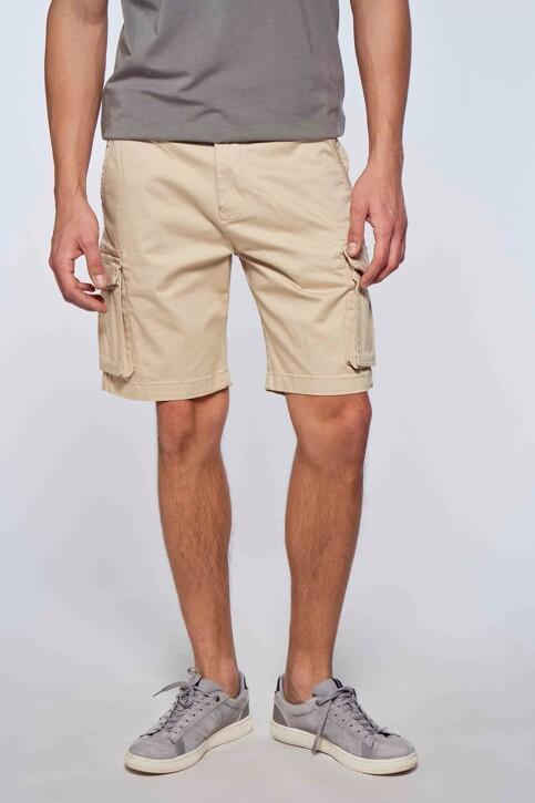 Bruce & Butler Shorts ecru BRB213MT 007_SAND img1