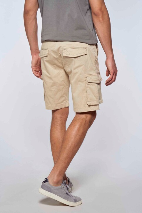 Bruce & Butler Shorts ecru BRB213MT 007_SAND img3
