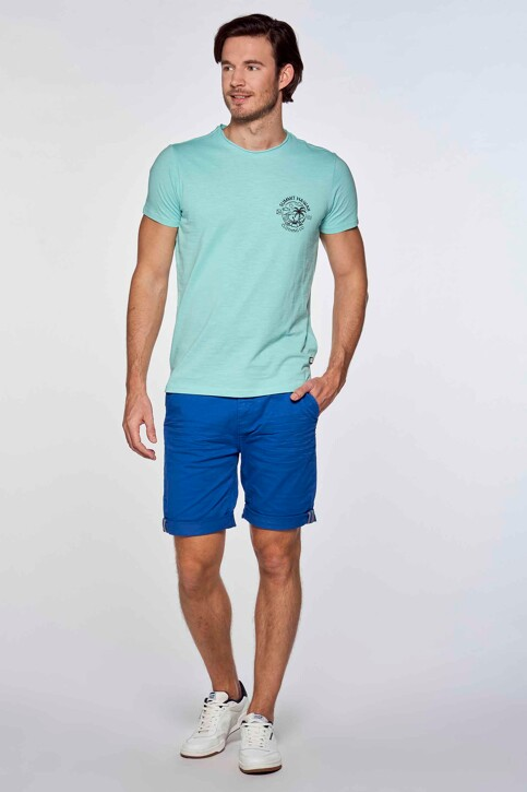 Bruce & Butler Shorts blauw BRB213MT 012_ELECTRIC BLUE img1