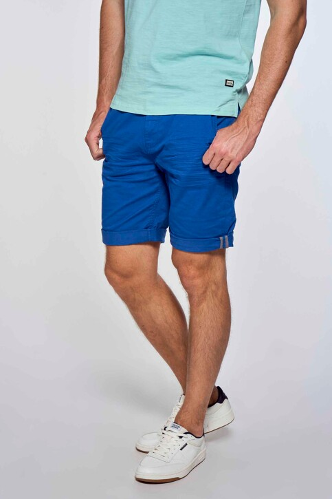 Bruce & Butler Shorts blauw BRB213MT 012_ELECTRIC BLUE img2