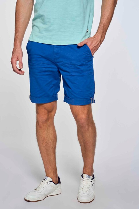 Bruce & Butler Shorts blauw BRB213MT 012_ELECTRIC BLUE img3
