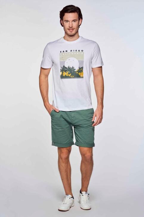 Bruce & Butler Shorts groen BRB213MT 012_GREEN img1