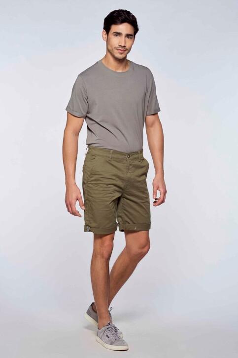 Bruce & Butler Shorts groen BRB213MT 012_OLIVE img2