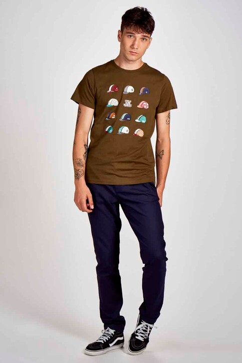 Cyclo Club Marcel T-shirts (korte mouwen) groen CCM202MT 020_KHAKI GREEN img2