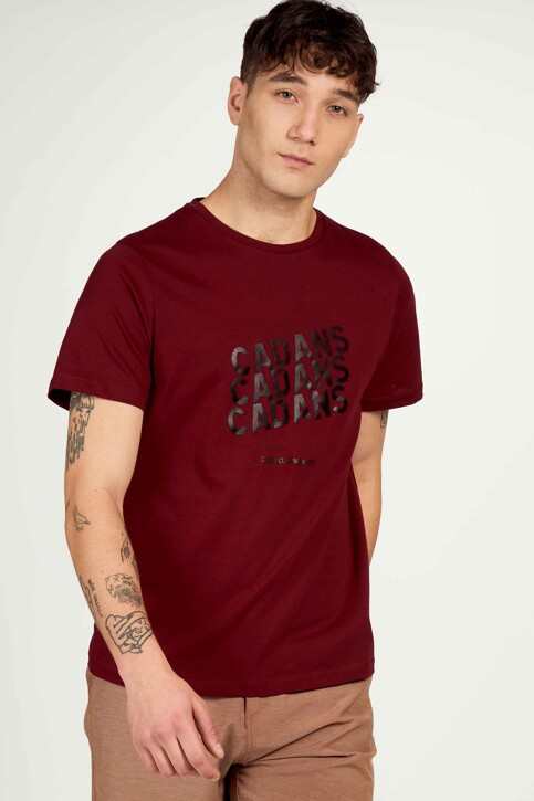 Cyclo Club Marcel T-shirts (korte mouwen) bordeaux CCM211MT 006_ZINFANDEL img1