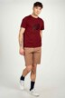 Cyclo Club Marcel T-shirts (korte mouwen) bordeaux CCM211MT 006_ZINFANDEL img2