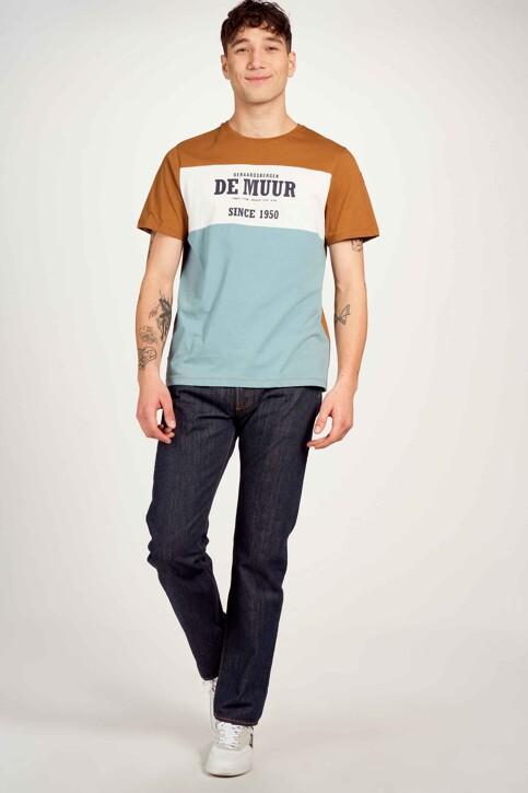 Cyclo Club Marcel T-shirts (korte mouwen) bruin CCM211MT 008_RUBBER img2