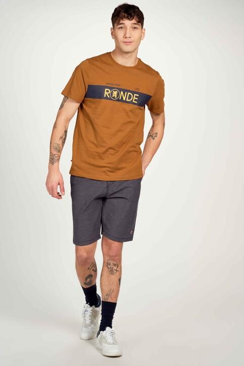 Cyclo Club Marcel T-shirts (korte mouwen) bruin CCM211MT 009_RUBBER img1