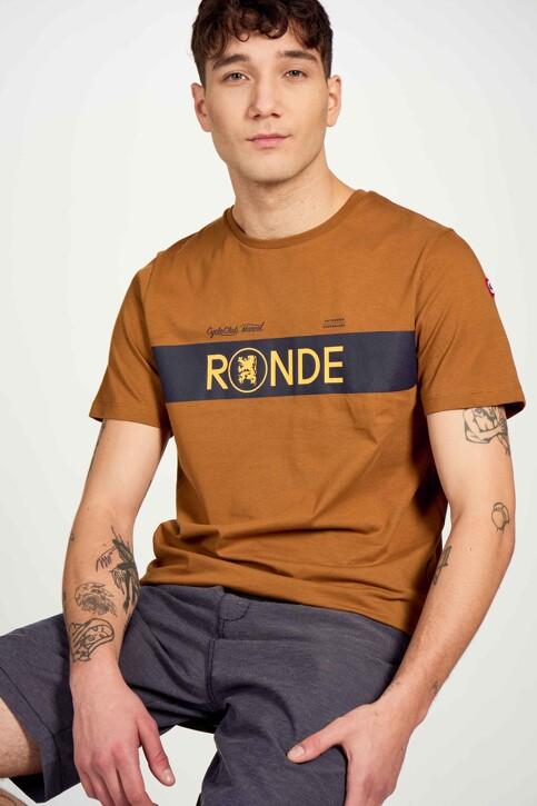 Cyclo Club Marcel T-shirts (korte mouwen) bruin CCM211MT 009_RUBBER img2