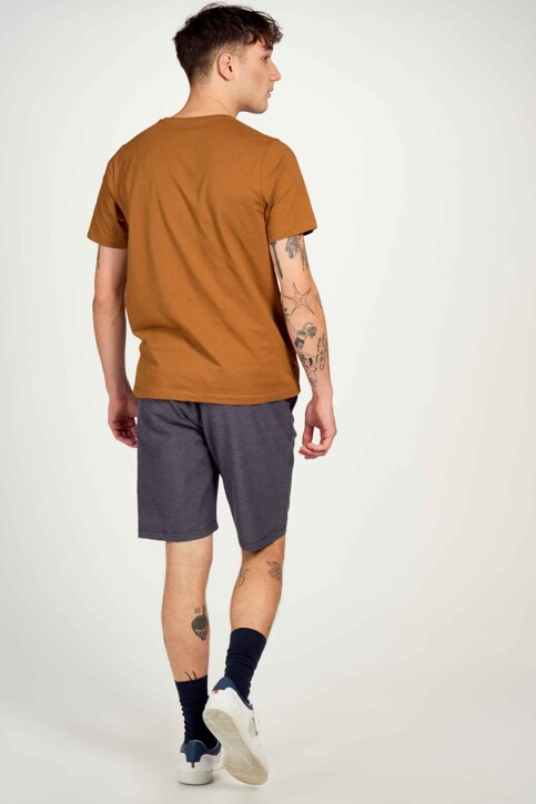 Cyclo Club Marcel T-shirts (korte mouwen) bruin CCM211MT 009_RUBBER img3