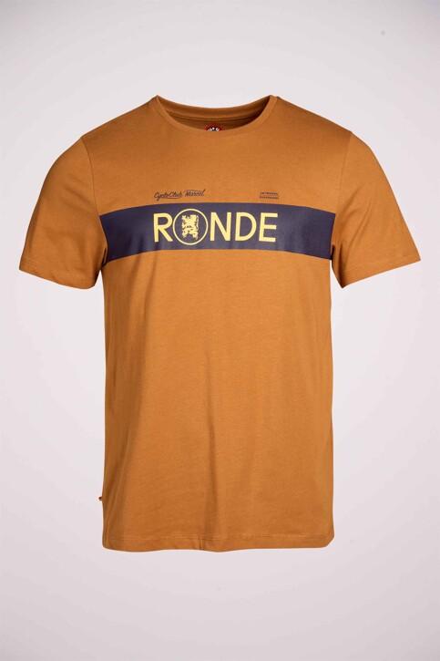 Cyclo Club Marcel T-shirts (korte mouwen) bruin CCM211MT 009_RUBBER img4