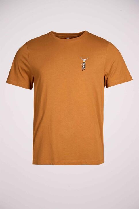 Cyclo Club Marcel T-shirts (korte mouwen) bruin CCM211MT 014_RUBBER img3