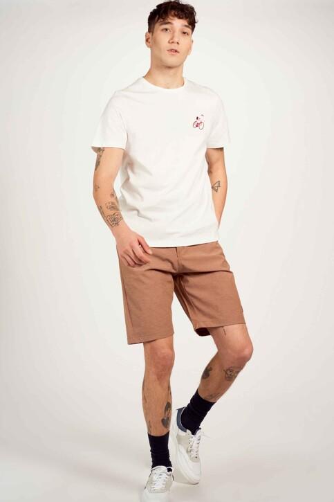 Cyclo Club Marcel T-shirts (korte mouwen) wit CCM211MT 018_VANILLA img1
