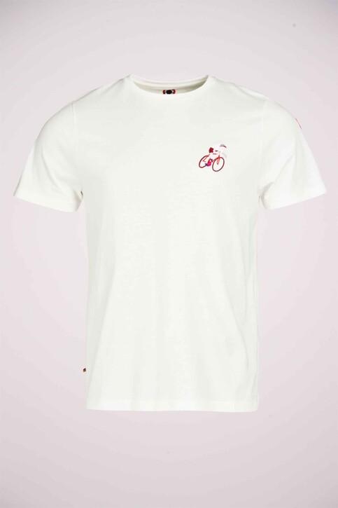 Cyclo Club Marcel T-shirts (korte mouwen) wit CCM211MT 018_VANILLA img2