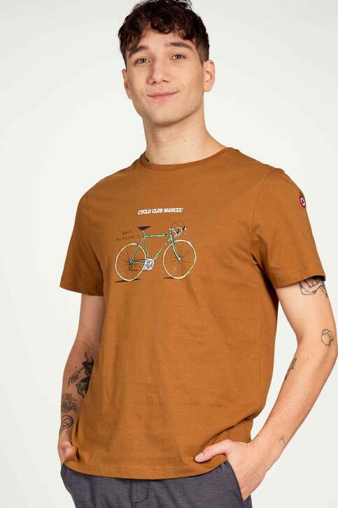 Cyclo Club Marcel T-shirts (korte mouwen) bruin CCM211MT 022_RUBBER img1