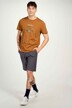 Cyclo Club Marcel T-shirts (korte mouwen) bruin CCM211MT 022_RUBBER img2