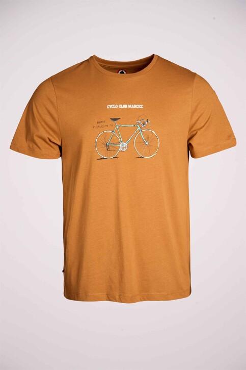 Cyclo Club Marcel T-shirts (korte mouwen) bruin CCM211MT 022_RUBBER img3