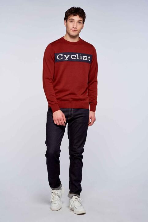 Cyclo Club Marcel Truien met ronde hals bordeaux CCM212MT 024_FIRED BRICK img1