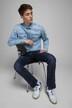 JACK & JONES JEANS INTELLIGENCE Jeans straight denim CLARK ORIGINAL VINT_JOS 318 img4