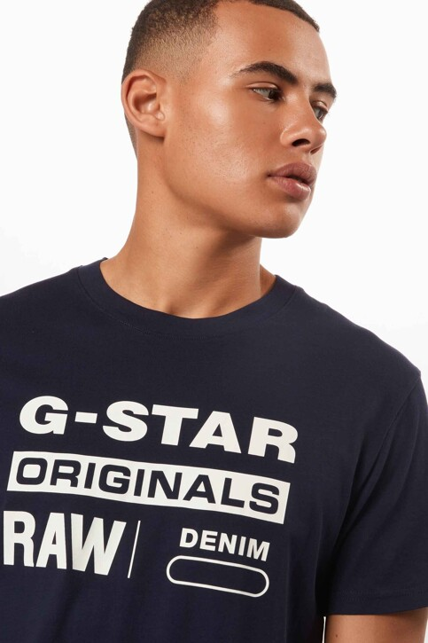 G-Star RAW T-shirts (korte mouwen) denim D141433366067_6067 SARTHO BLU img3