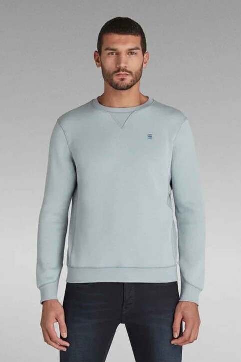 G-Star RAW Sweaters met ronde hals blauw D16917C2356481_6481 FAZE BLUE img1