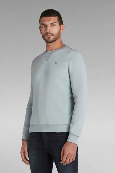 G-Star RAW Sweaters met ronde hals blauw D16917C2356481_6481 FAZE BLUE img2