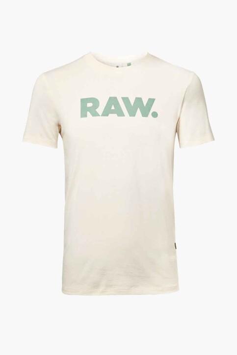 G-Star RAW T-shirts (korte mouwen) wit D19860336159_159 ECRU img1
