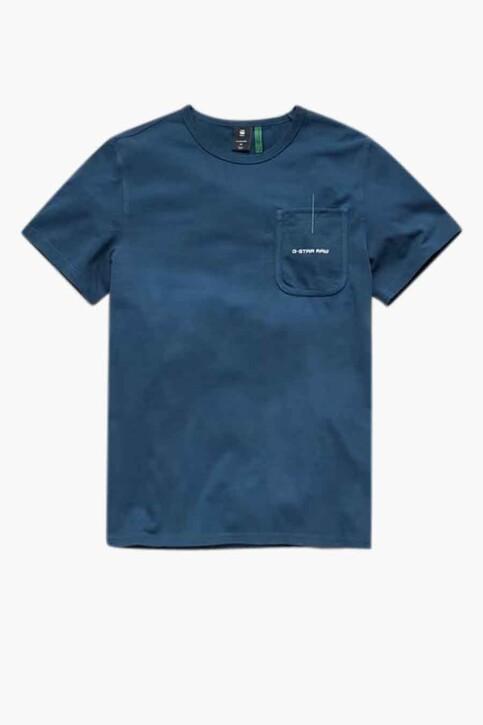 G-Star RAW T-shirts (korte mouwen) blauw D20189C784C630_C630 LUNA BLUE img3