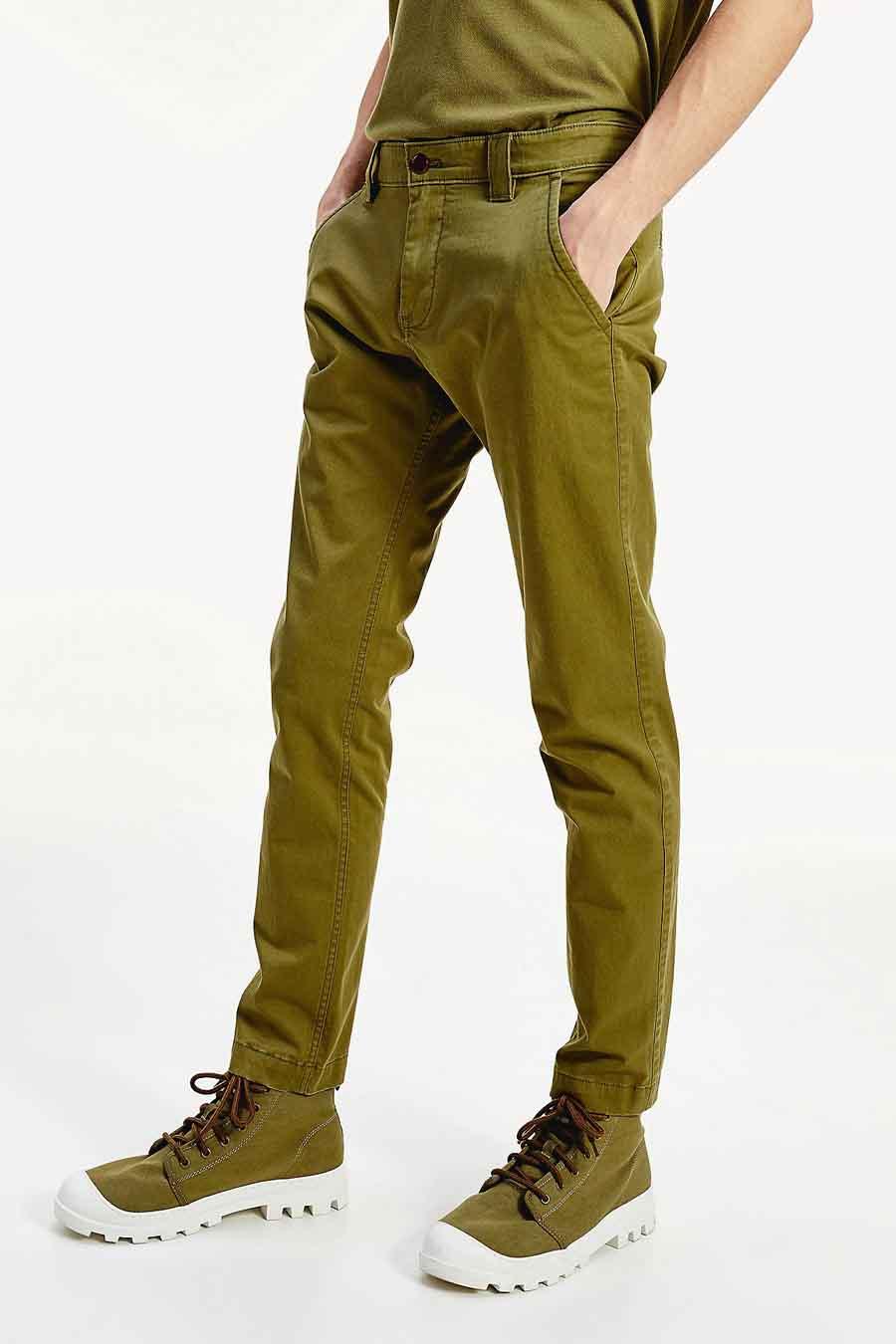Tommy Jeans Chino, Groen, Heren, Maat: 28x32/30x32/31x32
