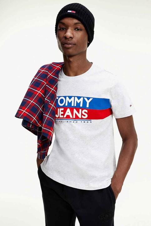 TOMMY JEANS T-shirts (korte mouwen) wit DM0DM09483PJ4_PJ4 SILVER GREY img1