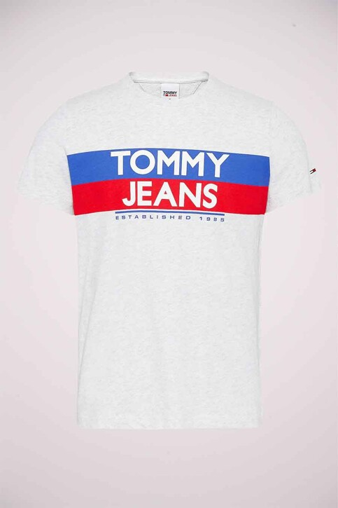 TOMMY JEANS T-shirts (korte mouwen) wit DM0DM09483PJ4_PJ4 SILVER GREY img4