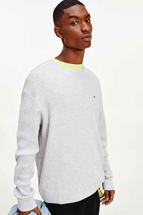 Tommy Hilfiger Sweaters met ronde hals wit DM0DM10183PJ4_PJ4 SILVER GREY img1