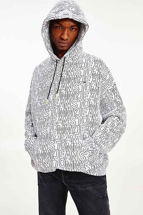 Tommy Hilfiger Sweaters met kap multicolor DM0DM10204YBR_YBR WHITE TWIL img1