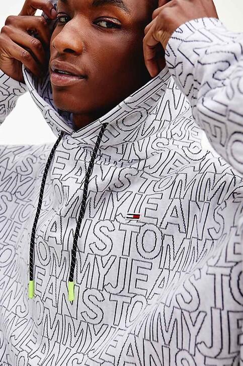 Tommy Hilfiger Sweaters met kap multicolor DM0DM10204YBR_YBR WHITE TWIL img2