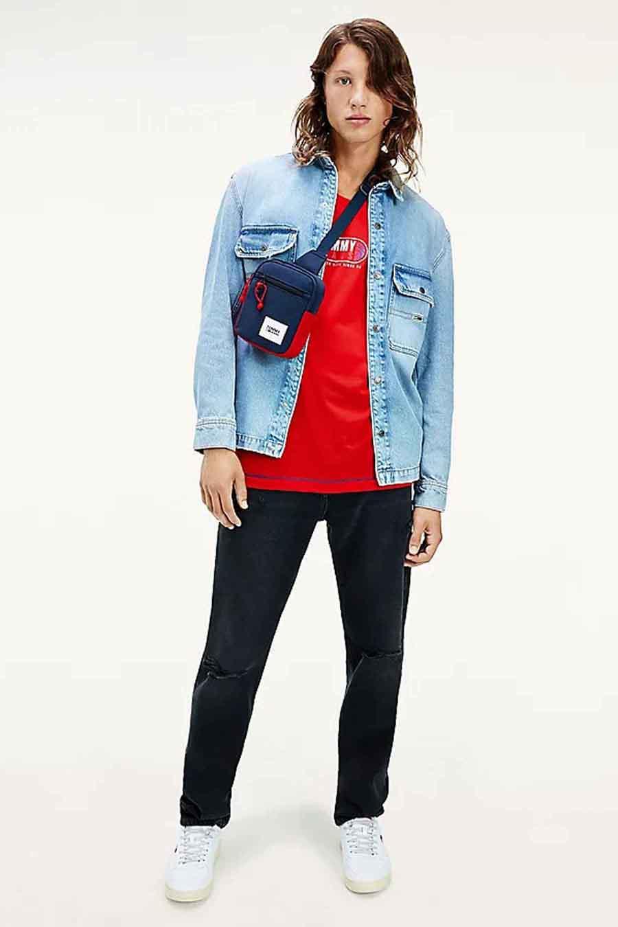 Tommy Hilfiger Jas jeans, Denim, Heren, Maat: L/M/S/XL/XS