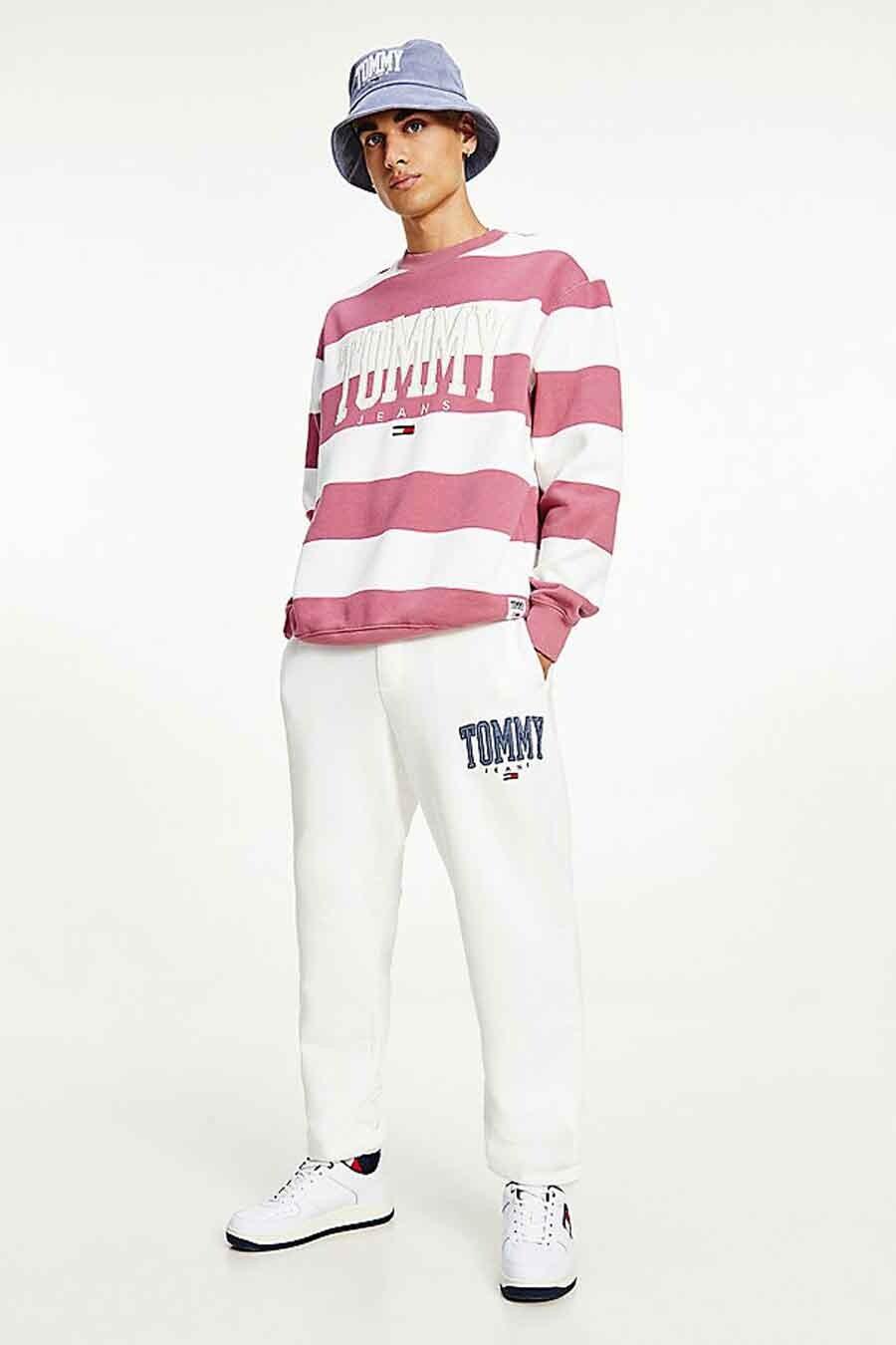 Tommy Jeans Jogging, Wit, Heren, Maat: L/M/S/XL/XS