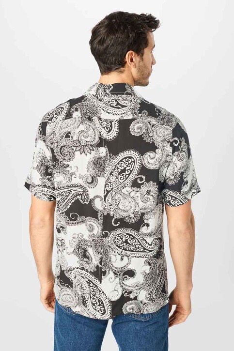 DENIM PROJECT Hemden (korte mouwen) zwart DPSS20300_BLACK WHITE img2