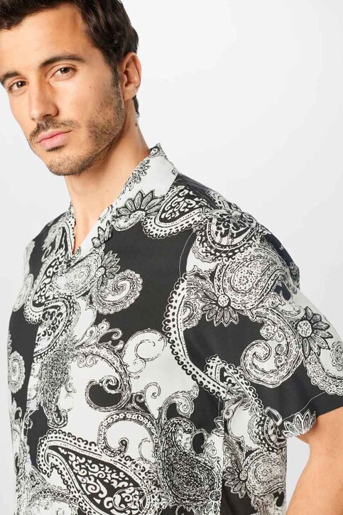 DENIM PROJECT Hemden (korte mouwen) zwart DPSS20300_BLACK WHITE img3
