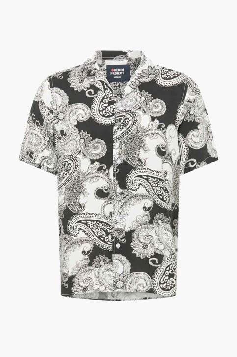 DENIM PROJECT Hemden (korte mouwen) zwart DPSS20300_BLACK WHITE img4