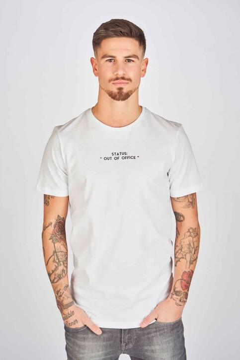DYJCode by Dennis Praet T-shirts (korte mouwen) wit DYJ193WT 004_WHITE img1