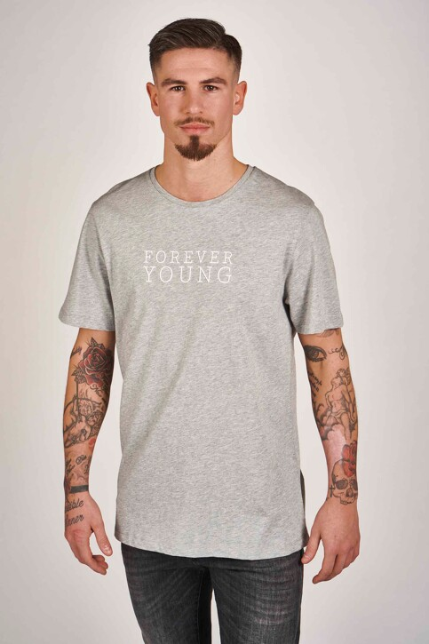 DYJCode by Dennis Praet T-shirts (manches courtes) gris DYJ201MT 009_GREY MELEE img1