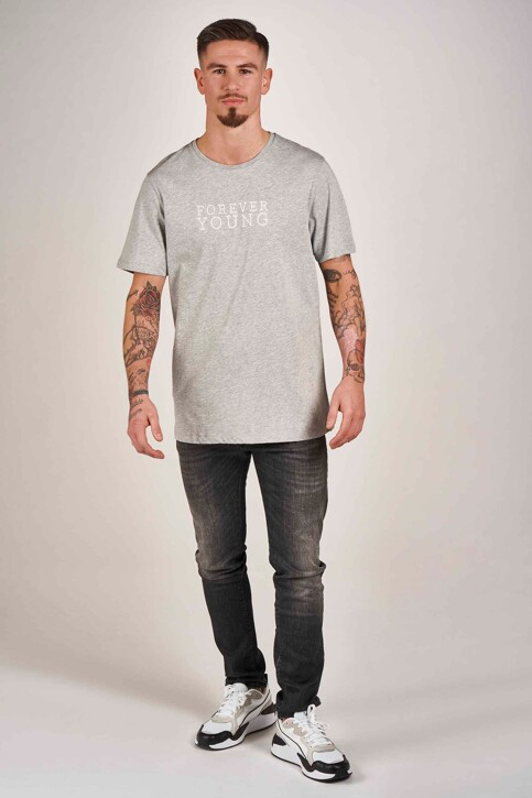DYJCode by Dennis Praet T-shirts (manches courtes) gris DYJ201MT 009_GREY MELEE img2