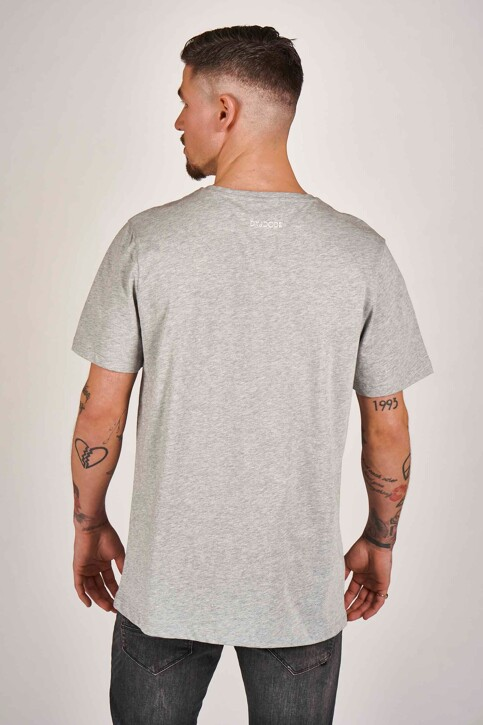 DYJCode by Dennis Praet T-shirts (manches courtes) gris DYJ201MT 009_GREY MELEE img3