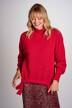 DEUX. by Eline De Munck Truien met ronde hals roze EDM202WT 011_HOT CORAL img1