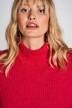 DEUX. by Eline De Munck Truien met ronde hals roze EDM202WT 011_HOT CORAL img4