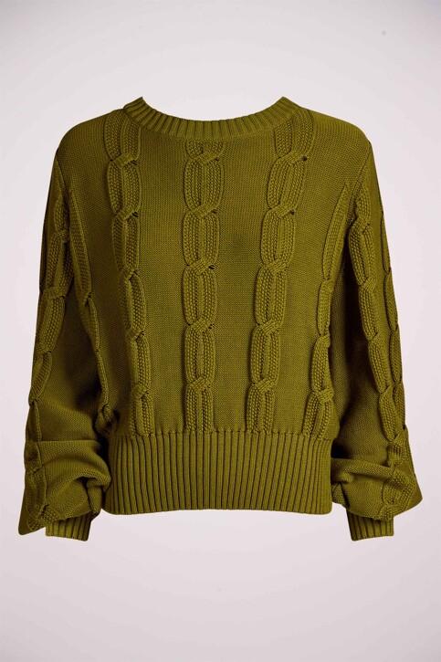 DEUX. by Eline De Munck Truien met ronde hals groen EDM211WT 020_GUACAMOLE img4